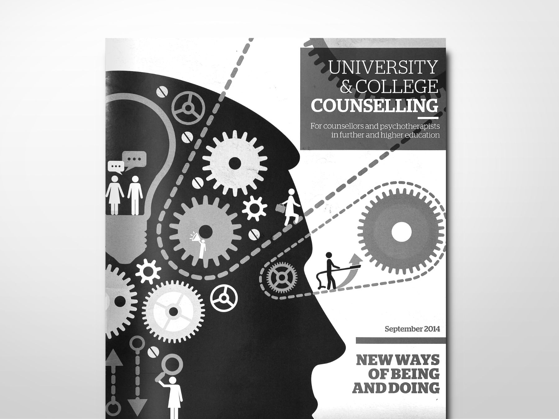 The front cover of BACP's University and College Counselling Magazine.