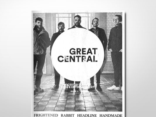 A copy of Great Central magazine with the band Frightened Rabbit on the cover.
